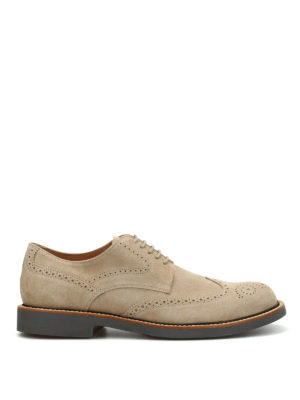 Tod'S: lace-ups shoes - Suede Derby brogue