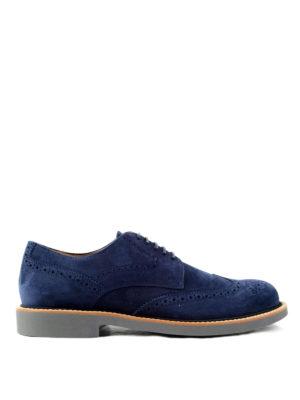 Tod'S: lace-ups shoes - Suede Derby brogue shoes