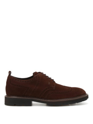 Tod'S: lace-ups shoes - Suede Derby brogues