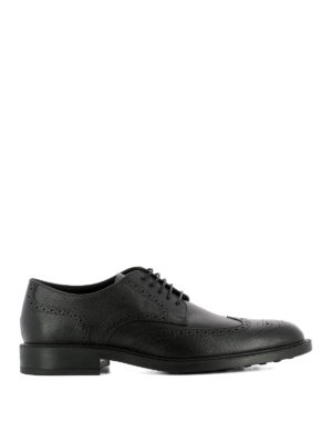Tod'S: lace-ups shoes - Textured leather Derby brogues
