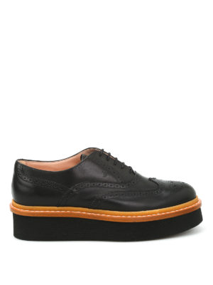 Tod'S: lace-ups shoes - Wedge leather Oxford brogue