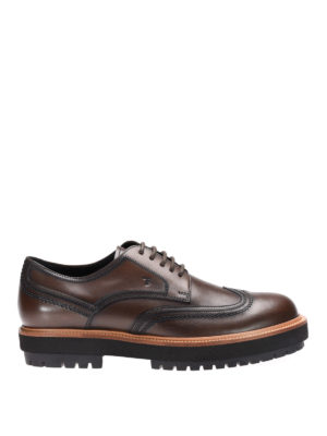Tod'S: lace-ups shoes - Wing-tip stitching leather lace-ups