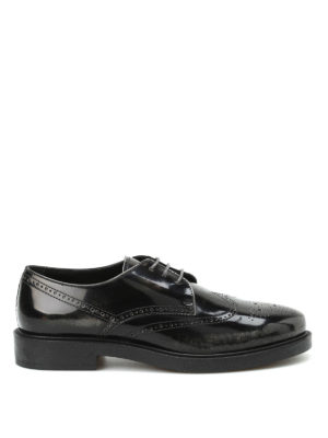 Tod'S: lace-ups shoes - Worn effect leather Derby brogue