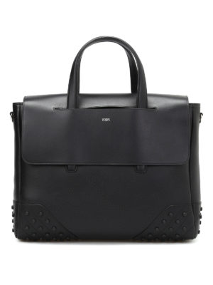 Tod'S: laptop bags & briefcases - Leather small gommini bag