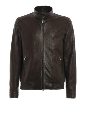 Tod'S: leather jacket - Bomber leather jacket