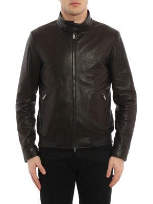 Tod'S: leather jacket online - Bomber leather jacket