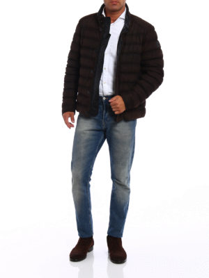 Tod'S: leather jacket online - Pash suede puffer jacket
