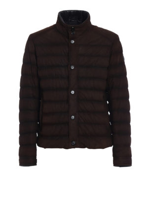 Tod'S: leather jacket - Pash suede puffer jacket