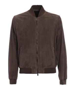 Tod'S: leather jacket - Soft suede bomber jacket