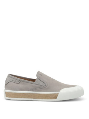 Tod'S: Loafers & Slippers - 26A nubuck slip-ons
