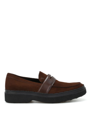 Tod'S: Loafers & Slippers - 39A suede and leather loafers