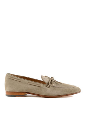 Tod'S: Loafers & Slippers - Beige suede classic loafers