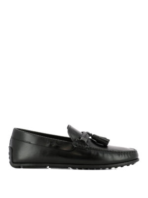 TOD'S: Mocassini e slippers - Mocassini neri City Spider