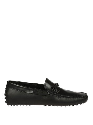 Tod'S: Loafers & Slippers - Black leather driver shoes