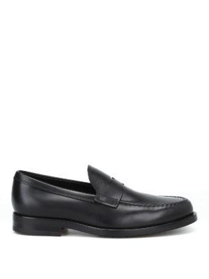 TOD'S: Mocassini e slippers - Mocassino formale nero in pelle