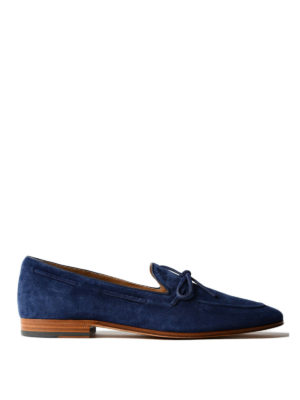 Tod'S: Loafers & Slippers - Blue suede classic loafers