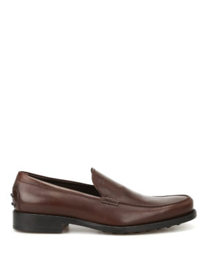 Tod'S: Loafers & Slippers - Boston dark brown leather loafers