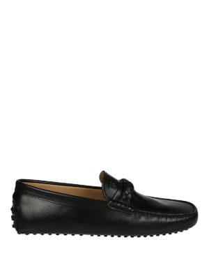 Tod'S: Loafers & Slippers - Braid detail leather driver shoes