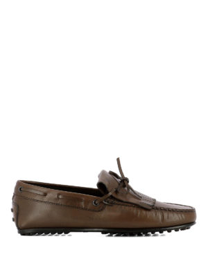 TOD'S: Mocassini e slippers - Mocassini con frangia in pelle