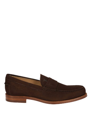 Tod'S: Loafers & Slippers - Brown suede classic loafers