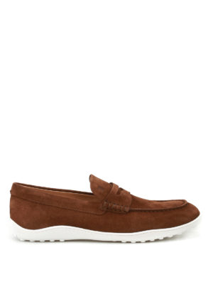 Tod'S: Loafers & Slippers - Brown suede loafers