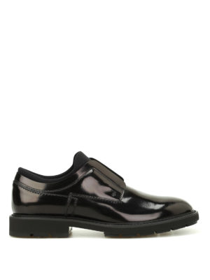 Tod'S: Loafers & Slippers - Brushed leather and scuba slip-ons