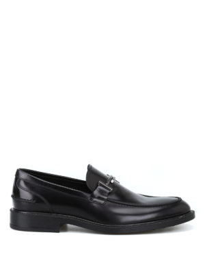 TOD'S: Mocassini e slippers - Mocassini con Double T in metallo brunito