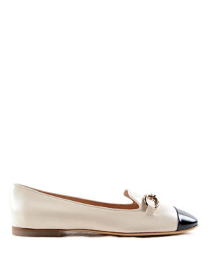 Tod'S: Loafers & Slippers - Chain detail leather slippers
