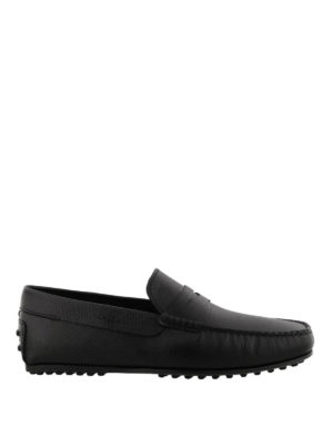 Tod'S: Loafers & Slippers - City black leather loafers
