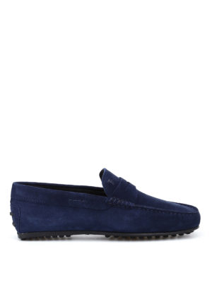 Tod'S: Loafers & Slippers - City Gommino dark blue loafers