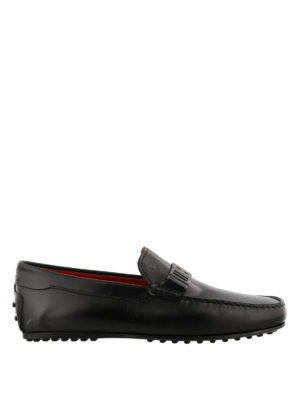 TOD'S: Mocassini e slippers - Mocassini neri City Gommino-Ferrari