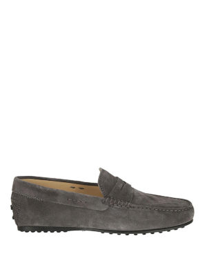 TOD'S: Mocassini e slippers - Mocassino City Gommino grigio