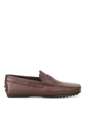 Tod'S: Loafers & Slippers - City Gommino leather loafers