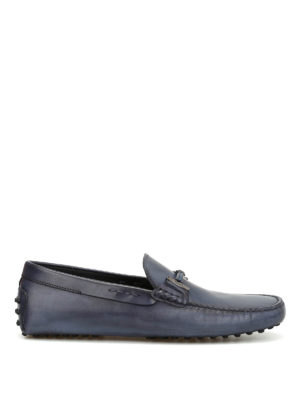 Tod'S: Loafers & Slippers - Clamp detail leather loafers