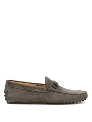 Tod'S: Loafers & Slippers - Clamp detail nubuck loafers