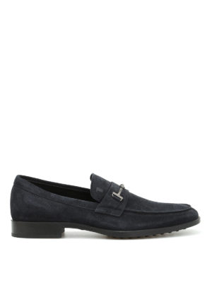 Tod'S: Loafers & Slippers - Clamp detail suede loafers