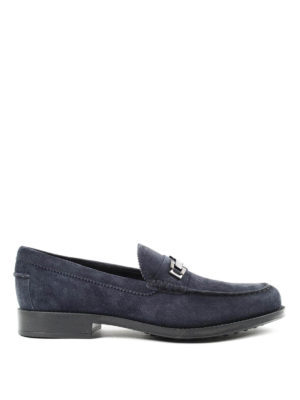 Tod'S: Loafers & Slippers - Clamp detailed suede loafers
