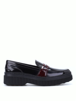 Tod'S: Loafers & Slippers - Contrasting penny bar loafers