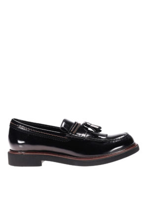 Tod'S: Loafers & Slippers - Contrasting stitching loafers