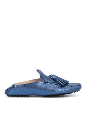 TOD'S: Mocassini e slippers - Slipper con nappine e frangia