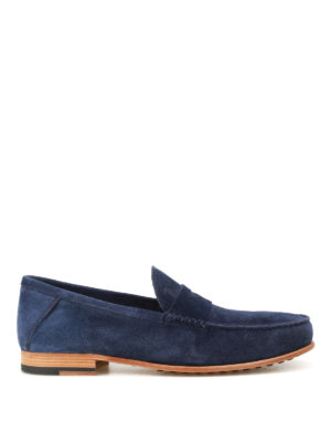 Tod'S: Loafers & Slippers - Dark blue suede loafers