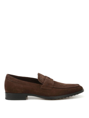 Tod'S: Loafers & Slippers - Dark brown suede loafers
