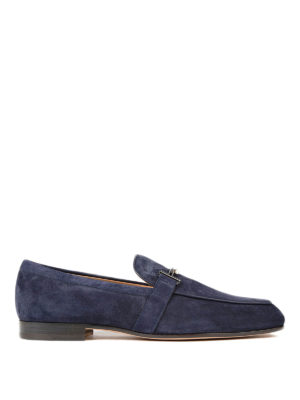 Tod'S: Loafers & Slippers - Doppia T formal suede loafers