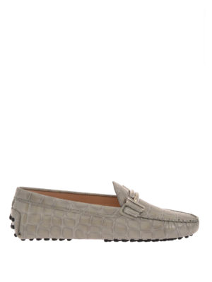 Tod'S: Loafers & Slippers - Double T croco print patent loafers