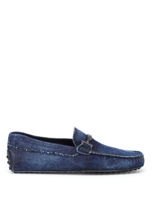 Tod'S: Loafers & Slippers - Double T denim loafers