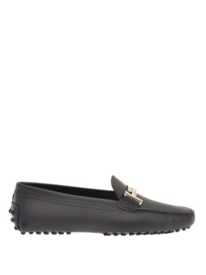 Tod'S: Loafers & Slippers - Double T detail leather loafers