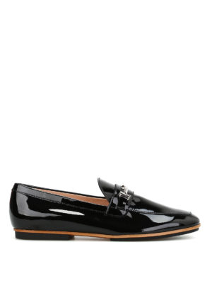 Tod'S: Loafers & Slippers - Double T detail patent loafers