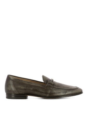 Tod'S: Loafers & Slippers - Double T detailed leather loafers