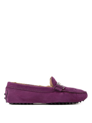 Tod'S: Loafers & Slippers - Double T fur lined nubuck loafers