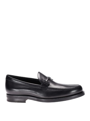 Tod'S: Loafers & Slippers - Double T glossy leather loafers